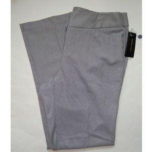 Rafaella Studio Black White Curvy Fit Pants 10
